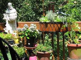 container garden vegetables. Cute Container Gardening Vegetables Mixed With Horizontal Wooden Fence Also White Marble Statue In The Garden