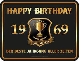 50 Jahre Happy Birthday Blechschild Schild Spruch 22x17 Cm Eur