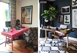 masculine office. Emily Henderson_Home Office_Masculine_Modern_Dark_Ecletic_Blue_Side By Side_1 Side_2 Masculine Office I