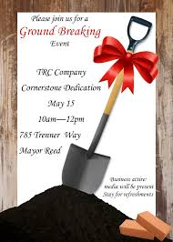 groundbreaking ceremony invitation sample grand opening invitations and ground breaking invitations new