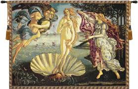 nascita di venere birth of venus by sandro botticelli italian traditional art tapestry wall hanging h13 x w20  on wall art tapestry hangings with nascita di venere birth of venus by sandro botticelli italian