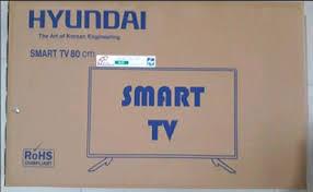 black hyundai led smart resolution hd