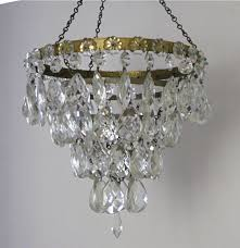 pair of large antique glass drop ceiling lights