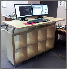 Ikea Standing Desk Galant Nice Stand Up Desks Throughout Design Decorating