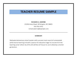 Teacher Resume Examples Pdf Examples Of Resumes