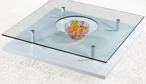square glass coffee table with black or white base