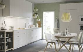 ikea modern kitchen. A White Large Kitchen With Worktops, Handles And Knobs. Combined Open Storage Ikea Modern K