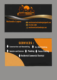 Remodeling And Design Business Entry 7 By Thandar8 For Design Some Business Cards For