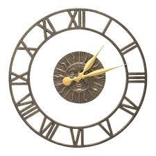 outdoor wall clock s floating ring indoor outdoor wall clock large outdoor wall clocks with temperature