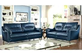 navy blue leather recliner chair living room furniture dark sofa