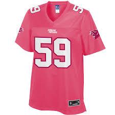 Pro Pink Luke Carolina Panthers Line Jersey Fashion Women's Kuechly