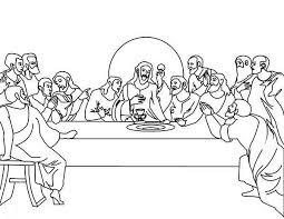 Small Picture The Last Supper Coloring Page Coloring Home