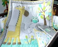 giraffe baby bedding crib sets with per cotton ery owl elephant set quilt skirt uk