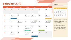 Calendar Template With Picture 2019 Calendar Powerpoint Template