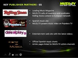 Spanish Music Charts 2014 Muzu Publisher Partners Overview 2014