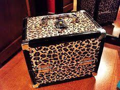 leopard print makeup vanity case i love mine