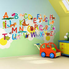 26 individual alphabet animals self adhesive wall art stickers for nursery