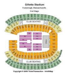Gillette Stadium Seating Chart Concert Explicit Map Of