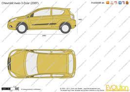 The-Blueprints.com - Vector Drawing - Chevrolet Aveo 3-Door