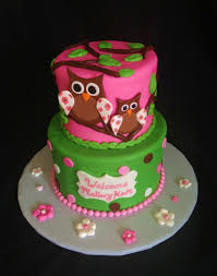 Baby Shower Girl Cake Ideas  Baby Shower For Parents  Shanna Owl Baby Shower Cakes For A Girl