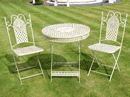 get goods 3 piece bistro style garden patio furniture set whites co uk garden outdoors
