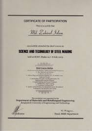 Making A Certificate Science Technology Of Steel Making Certificate