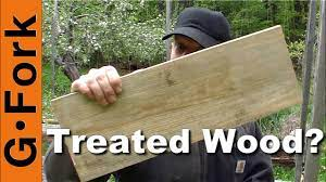 pressure treated wood for raised garden