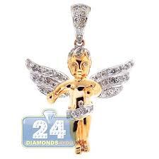 mens diamond guardian angel wings