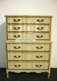 Vintage Kent Coffey French Provincial Dixie Style Tallboy Dresser - Bedroom tallboy furniture