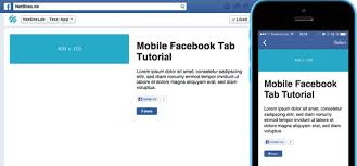 how to create a mobile facebook tab tutorial