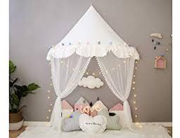 White Canopy for <b>Cot Girls</b> Princess Tent <b>Baby</b> Toddler <b>Bed</b> ...