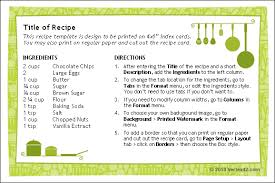 Recipe Form Templates Free Printable Recipe Card Template For Word