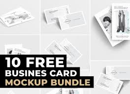 10 Free Business Cards 10 Business Card Mockup Bundle Free Graphicsegg