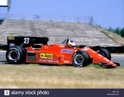 1984 Michele Alboreto italienischen Ferrari 126 3 Hockenheim Dnf FL  Stockfotografie - Alamy