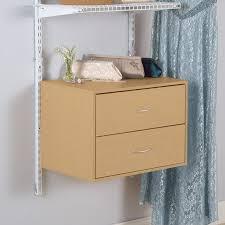 rubbermaid homefree series maple wood 2 drawer unit