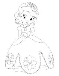 free printable coloring pages princess