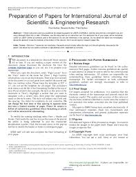 template for submissions to journal ijser template international journal of scientific engineering res