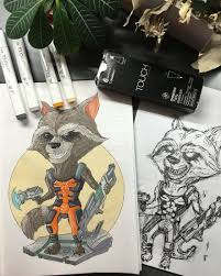 Raccoon Rocket енот ракета ракетаенот стражигалактики комиксы
