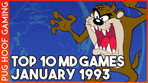 Top 10 Charts 1993 The Uk Top 10 Mega Drive Genesis Games January 1993 The Retrogaming Chart Show