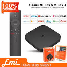 Xiaomi Mi Box S Mi Box 4 International Version MDZ-22-AB Android TV -  Termasuk APP (Default)