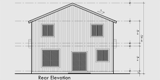 House Front Drawing Elevation View For 10179 Affordable 2 Story House Plan  Has 4 Bedrooms And