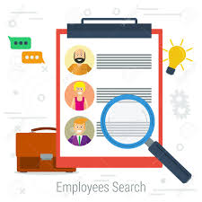 Vector Flat Concept Employee Search List Candidates To Work