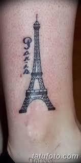 фото тату эйфелева башня 22082018 072 Tattoo The Eiffel Tower