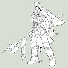 All Assassins Creed Coloring Pages Ezio Kigurumi Coloring Pages