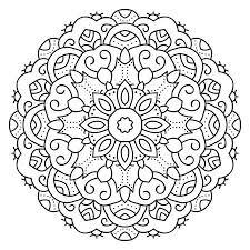 Set Van Zwarte En Witte Cirkelvormige Patronen Of Mandala Voor Het
