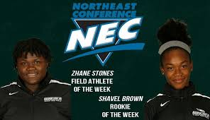 Shavel Brown and Zhane Stones Earn NEC Women's Track & Field Weekly Honors  - Wagner College Athletics
