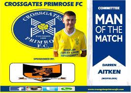 """Crossgates Primrose on Twitter: """"Today's Committee MotM goes to Darren  Aitken. Well done Daz👏👏… """""""