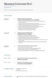 Physician Assistant Resume Template Custom Physician Assistant Resume Templates Physician Assistant Resume