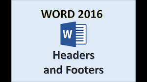 Header Template Word Word 2016 Header And Footer Tutorial How To Create And Remove Headers Footers In Ms Office 365