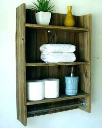 pallet towel rack bathroom wall racks cabinets with shelving for towels shelves shelf to